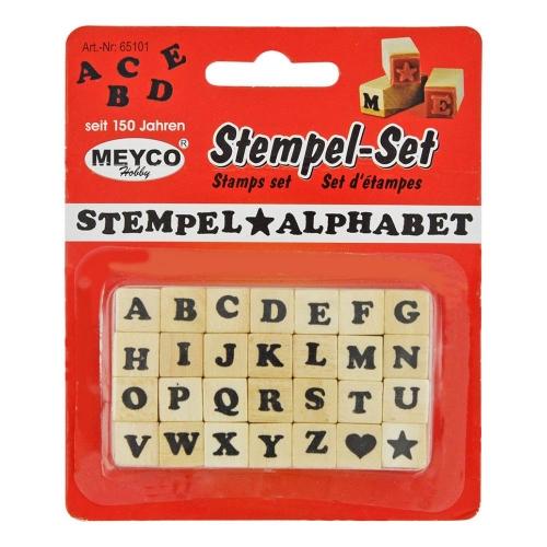 Σφραγίδες αλφάβητο Meyco σετ 28 τεμ 65101