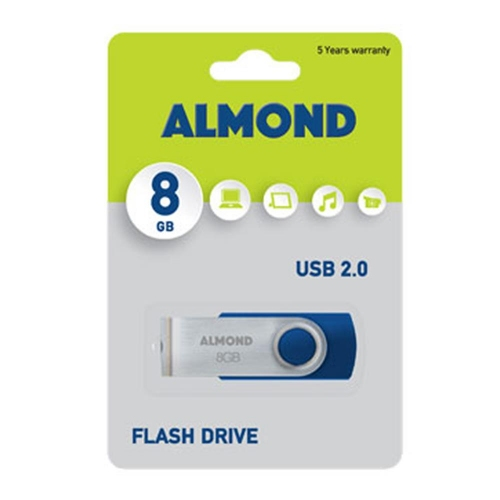 Usb Almond 8GB Twister μπλε