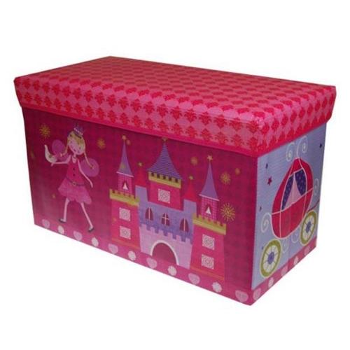 Σκαμπό κουτί νεράιδα με κάστρο 35x60x30 cm