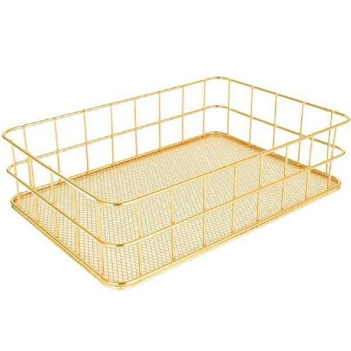 Καλάθι μεταλλικό 6x24.3x15.4 cm χρυσό