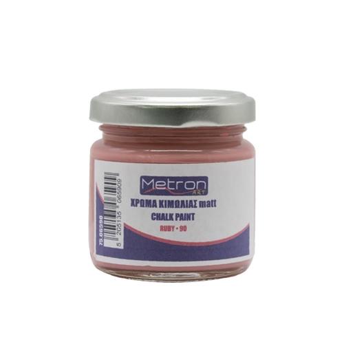 Χρώμα κιμωλίας Metron 110 ml ruby