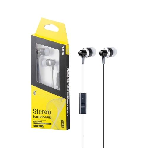 Ακουστικά ενσύρματα MTK stereo με μικρόφωνο μαύρα