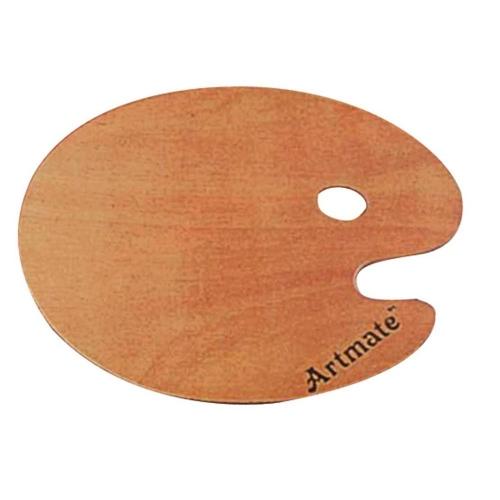 Παλέτα ξύλινη οβάλ Artmate 24x30 cm