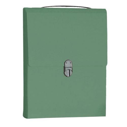 Τσάντα συνεδρίου όρθια 32x24x5 cm Next classic πράσινη