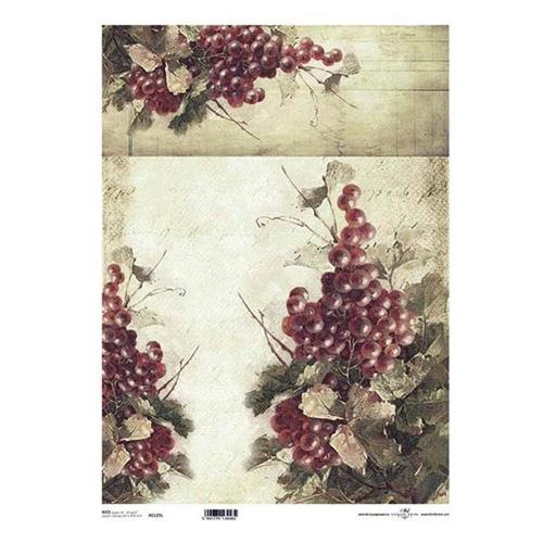 Ριζόχαρτο decoupage Itd grapes Α3