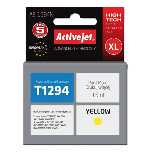 Μελάνι Active Jet συμβατό Epson T1294 XL yellow 15 ml