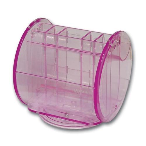 Μολυβοθήκη πλαστική περιστρεφόμενη Leetack ροζ