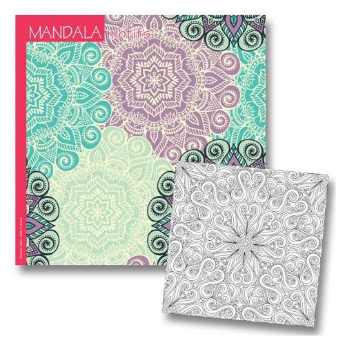 Μπλοκ ζωγραφικής 23x23 Νext mandala motifs 36 φύλλα