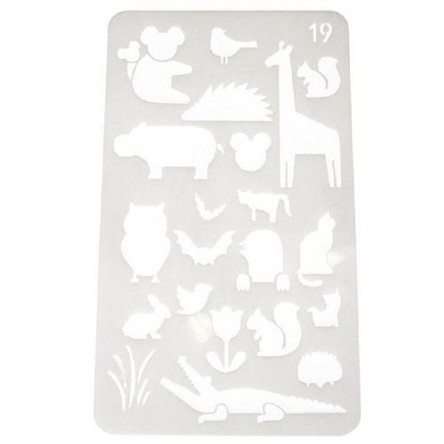 Στένσιλ πλαστικό Next 17,7x10,4 ζώα της ζούγκλας