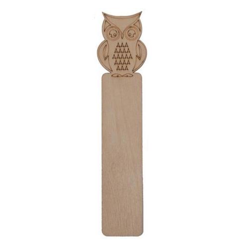 Σελιδοδείκτης ξύλινος κουκουβάγια 19x3,5 cm