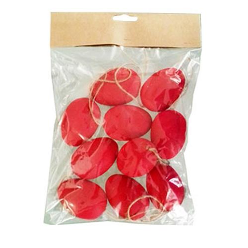 Αυγά πλαστικά κρεμαστά 60 mm 10 τεμ. κόκκινα