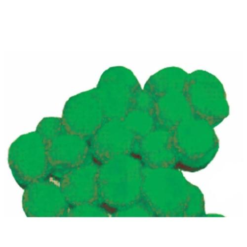 Πομ πομ 1εκ. πράσινο 100 τεμάχια
