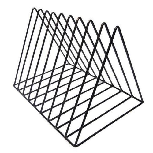 Φακελοστάτης μεταλλικός 16x25x20 cm μαύρος με μπρονζέ λεπτομέριες