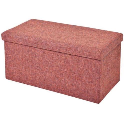 Σκαμπό-κουτί πορτοκαλί 36x76x38 cm