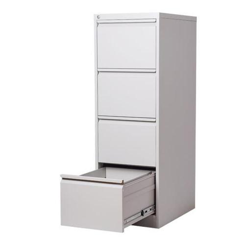 Συρταριέρα μεταλλική κρεμαστών φακέλων 4 θέσεων Nextdeco με κλειδαριά γκρι
