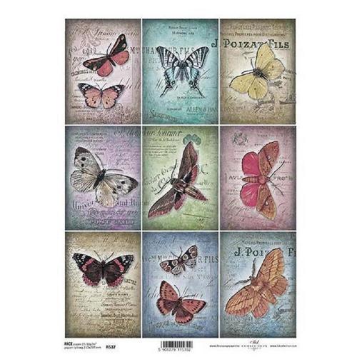 Ριζόχαρτο decoupage Itd butterflies Α4