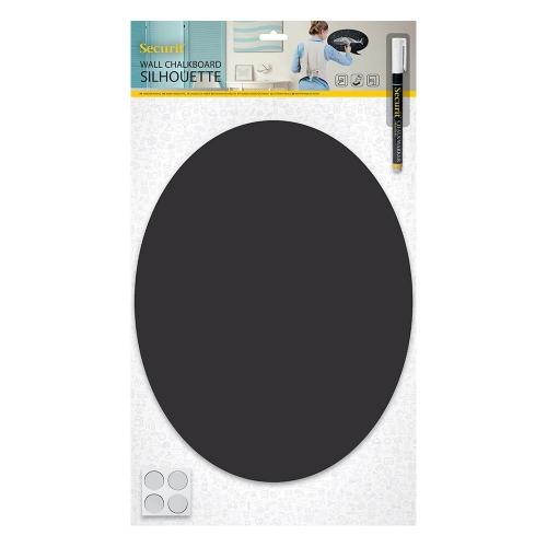 Πίνακας υγρής κιμωλίας Securit 29,8x37,7 cm οβάλ με μαρκαδόρο