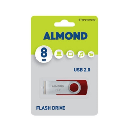 Usb Almond 8GB Twister κόκκινο