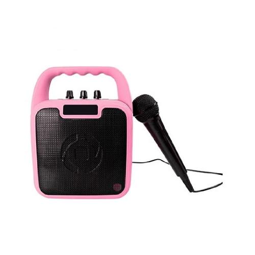Ηχείο ασύρματο με μικρόφωνο Celly παιδικό ροζ