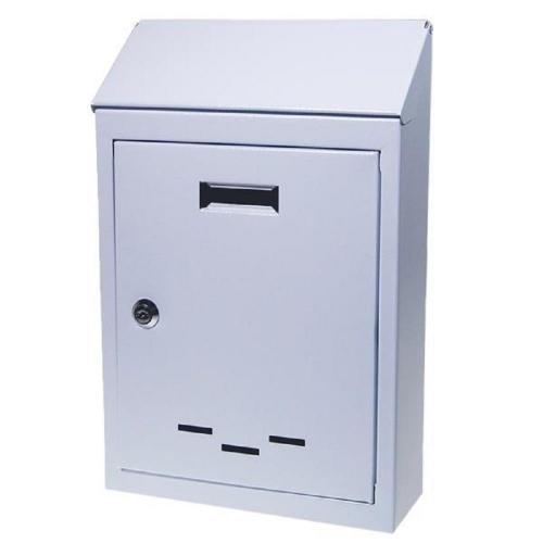 Γραμματοκιβώτιο μεταλλικό 36x23x8 cm λευκό