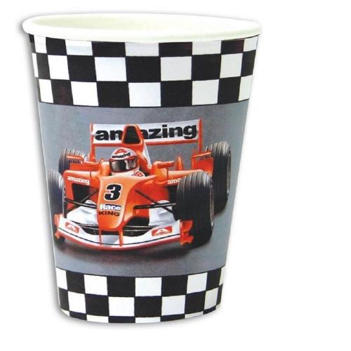 Ποτήρι 9οz race car 6τεμ.