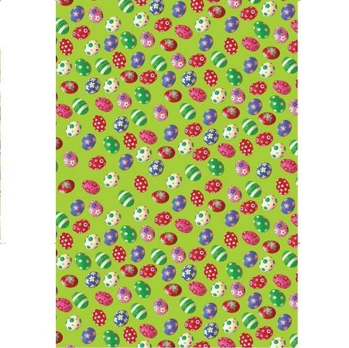Χαρτιά δώρου 70 x100 cm σετ 16 τεμ πασχαλινά αυγά