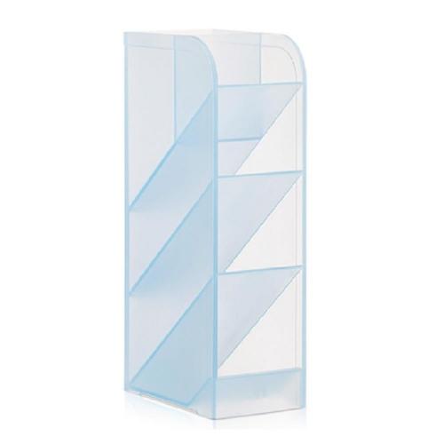 Μολυβοθήκη πλαστική Deli 5 θέσεων διάφανο γαλάζιο