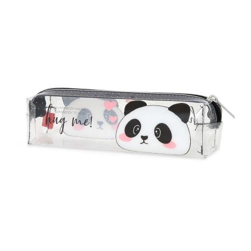 Κασετίνα βαρελάκι με φερμουάρ Legami VPC0023 διάφανη panda