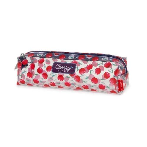 Κασετίνα βαρελάκι με φερμουάρ Legami VPC0020 διάφανη cherry bomb