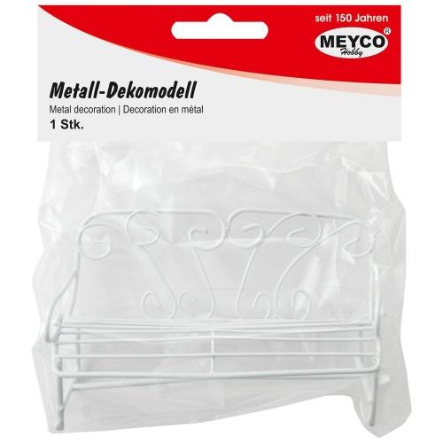 Παγκάκι μεταλλικό λευκό Meyco 81125
