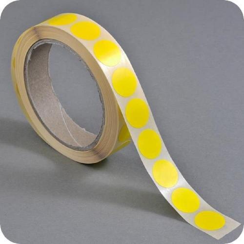 Ετικέτες ρολό στρογγυλές 13mm κίτρινες 1000 τεμ.