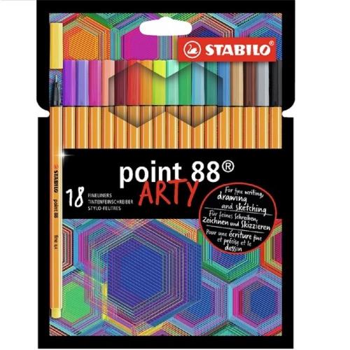 Μαρκαδοράκια Stabilo point 88 arty σετ 18 τεμ