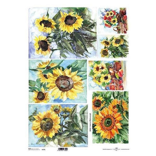 Ριζόχαρτο decoupage Itd sunflower Α3