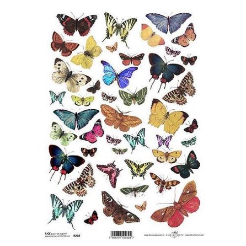 Ριζόχαρτο decoupage Itd butterflies 1 Α4