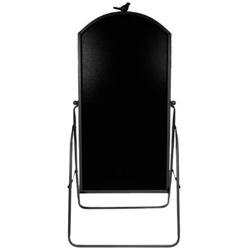 Πίνακας μενού μαύρος εξωτ. χώρου 110x47 cm με μαύρο περίγραμμα