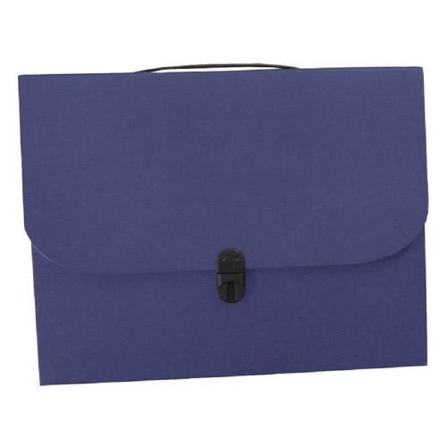 Τσάντα συνεδρίου με κούμπωμα 36x28x4 cm classic μπλε