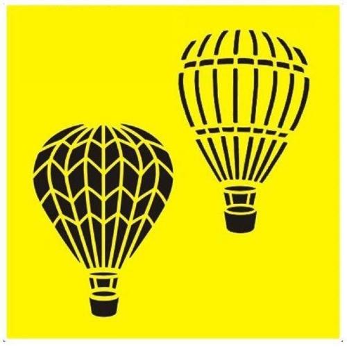 Στένσιλ πλαστικό Next 16x16 αερόστατα ST0151B