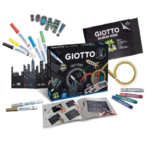 Σετ Δημιουργίας Giotto Art Lab Crazy Black 23 τεμ