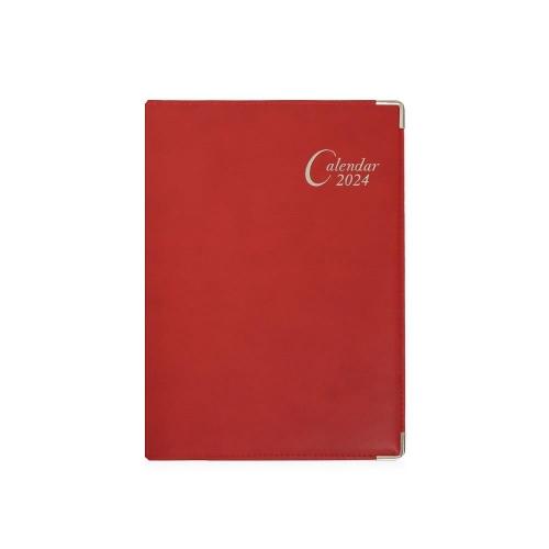 Ημερολόγιο 2022 17x24 Ekdosis ημερήσιο θήκη κόκκινο