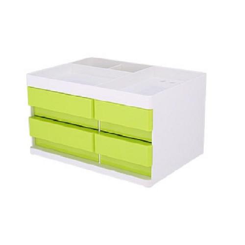 Συρταριέρα πλαστική 4 θέσεων Deli μικρή με θήκες πράσινη