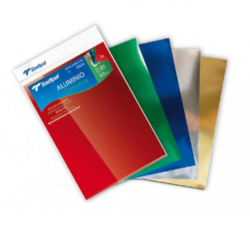 Χαρτόνια μεταλιζέ Α4 Sadipal πακέτο 5 χρώματα