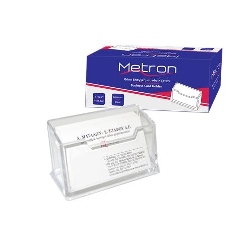 Σταντ ακρυλικό για κάρτες μονό Metron K-052