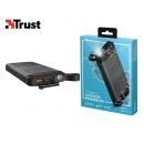 TRUST POWERBANK ΑΔΙΑΒΡΟΧΟ 2 USB 20V 10.000 mAh HYKE OUTDOOR ΜΑΥΡΟ