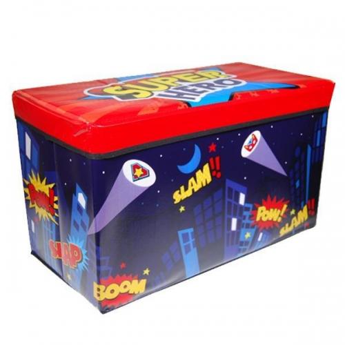 Σκαμπό-κουτί αποθήκευσης υφασμάτινο