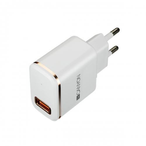 Canyon H-043 USB AC charger   Lightning USB connector, 2.4A, White Rose - CNE-CHA043WR