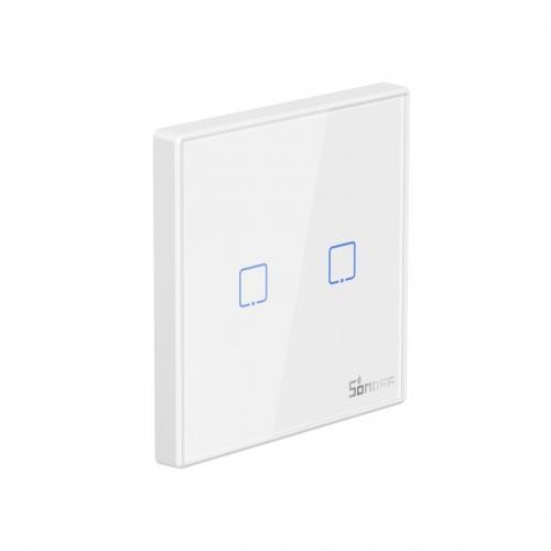 Sonoff T2EU2C-RF Sticky Wireless Smart Wall Switch 2-Channel, RF, Διακόπτης Τοίχου - M0802030010