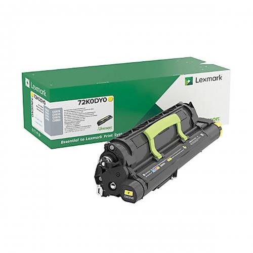 Developer Unit Laser Lexmark 72K0DY0 Yellow -300k Pgs