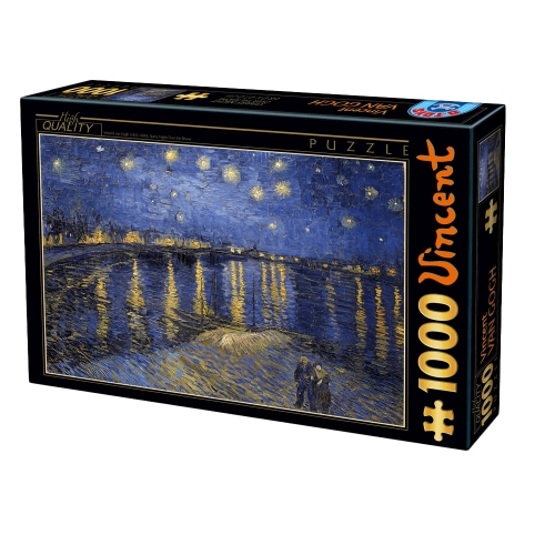 DTOYS ΠΑΖΛ 1000Τ 68x47cm STARRY NIGHT OVER THE RHONE 66916VG11