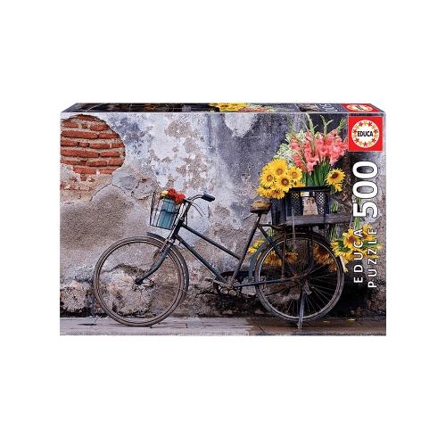 EDUCA ΠΑΖΛ 500Τ.48x34εκ. BICYCLE WITH FLOWERS 17988
