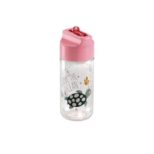 MIQ ΠΑΓΟΥΡΙ ΠΛΑΣΤΙΚΟ TRITAN BPA-free 430ml 16.5x6.3cm SAVE THE OCEAN 13101 ΡΟΖ